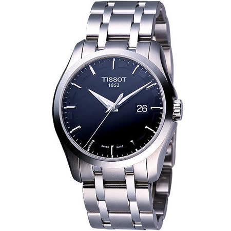TISSOT Couturier 建構師系列大三針時尚錶(T0354101105100)-黑
