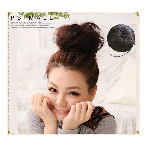 【PS Mall】日系扣式調節拉繩 包包頭道姑頭 丸子頭髮包假髮 (P003)