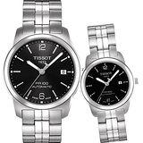 TISSOT PR100 都會 機械對錶(T0494071105700+T0493071105700)-黑