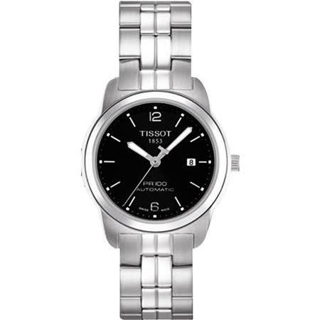 TISSOT PR100 都會年代 機械女錶(T0493071105700)-黑