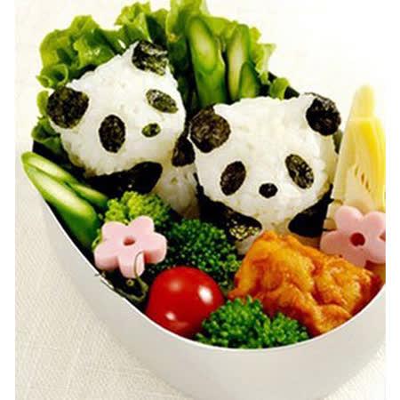【PS Mall】熊貓仔仔飯團模 可愛熊貓寶寶飯糰壓模 模具組 (J1747)
