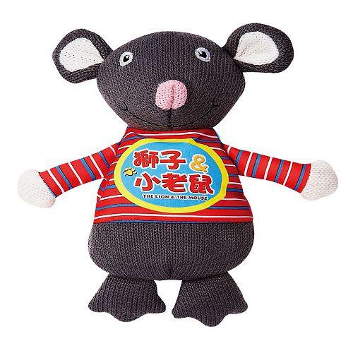 獅子&小老鼠-我的動物玩偶故事書(購物車)