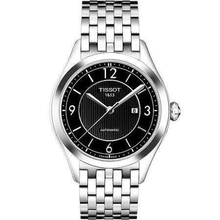 TISSOT 經典時光機械女錶(T0382071105701)-黑