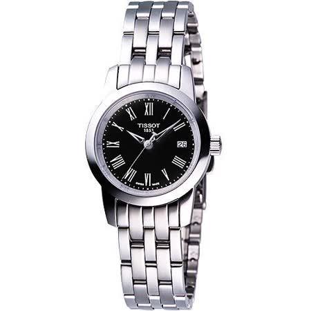 TISSOT CLASSIC DREAM 經典鋼帶女錶(T0332101105300)-黑