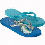 【預購】Miit 無盡舒適休閒藍色系人字涼鞋2件組