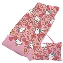 【享夢城堡】精梳棉舖棉冬夏兩用4X5兒童睡袋-HELLO KITTY 我的娃娃-粉