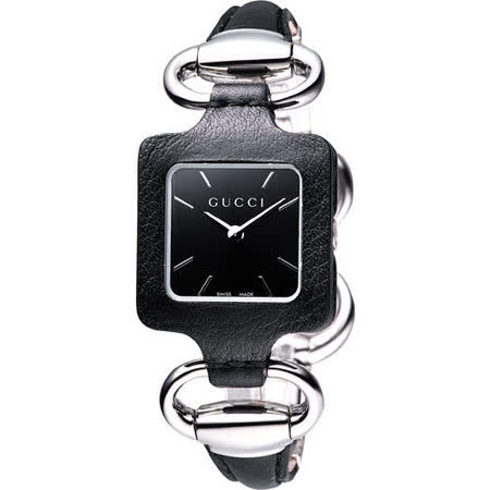GUCCI 1921 經典時尚名媛手鍊錶(YA130402)-黑