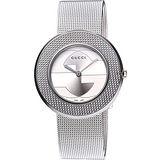 GUCCI U-Play 米蘭時尚風腕錶(YA129407)-銀