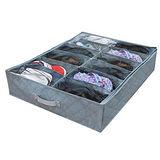 《超值2入》日式竹炭收納透明鞋盒-12格