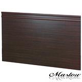【Maslow-簡約胡桃加高型】單人床頭片-3.5尺(木心板)