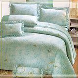 《典雅青春》100%純棉加大四件式床包被套組(台灣製)