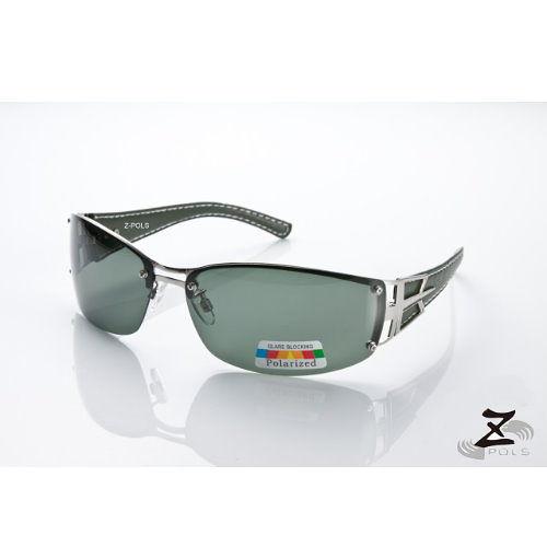 ☆視鼎Z-POLS專業代理新款偏光鏡☆金屬份量時尚感 復古寬版框皮革設計質感款 寶麗來偏光 太陽眼鏡,送眼鏡盒