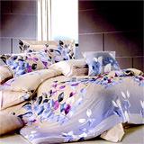 《盛世閑庭》雙人加大四件式舖棉兩用被床包組