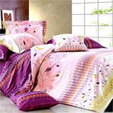 《詩情畫意》雙人加大四件式舖棉兩用被床包組