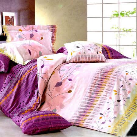 《詩情畫意》雙人特大四件式舖棉兩用被床包組