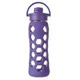 美國唯樂Lifefactory 菱形玻璃水瓶-吸嘴650ml深紫 LF236003