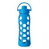 美國唯樂Lifefactory 菱形玻璃吸嘴水瓶650ml淺藍 LF236001