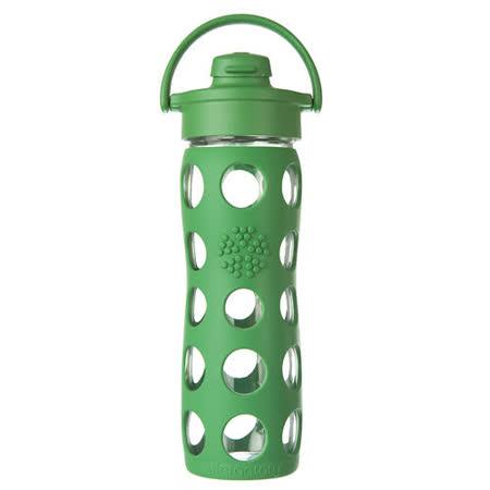 美國唯樂Lifefactory 彩色玻璃水瓶-吸嘴450ml草綠 LF224001