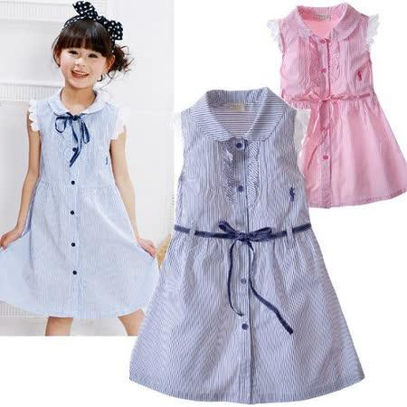 夏日《細條紋學院風》甜美氣質小洋裝【現貨+預購】