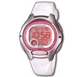 CASIO 電子美人彩色數字運動膠帶錶(白)