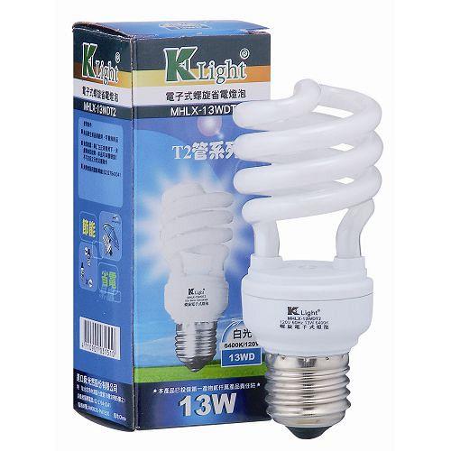 光然K~LIGHT 電子式螺旋省電燈泡~白光^(13W^)