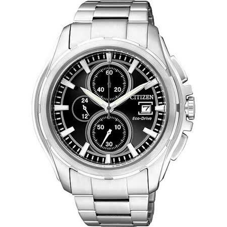 CITIZEN OXY 光動能爭霸傳奇計時腕錶(CA0270-59F)-黑/銀