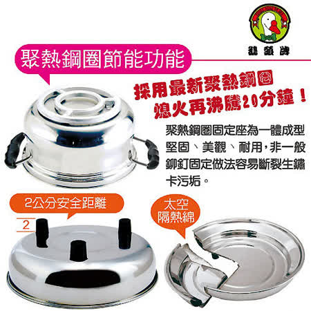 【鵝頭牌】21cm免火再煮節能鍋(CI-2106)