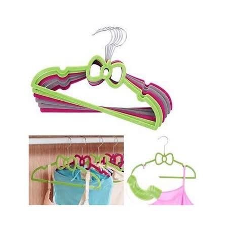 【PS Mall】高品質可愛造型精細植絨防滑衣架_5個 (B005)