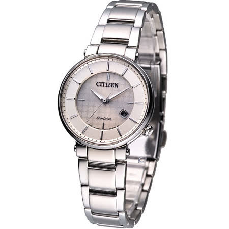 CITIZEN Eco Drive 光動能時尚女錶-(EW1790-57A)白