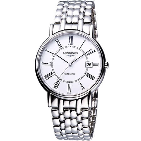 LONGINES Presence經典羅馬機械腕錶(L48214116)-33mm