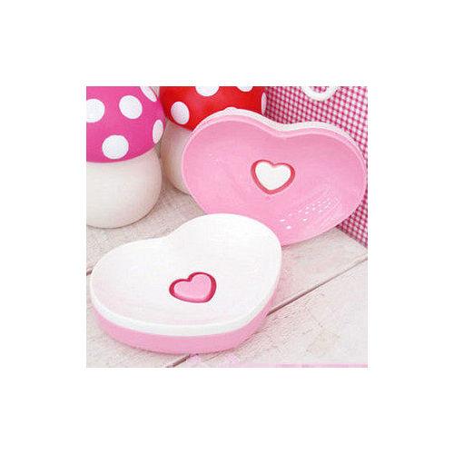 甜美款愛心 香皂盤 2個