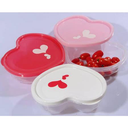 居家專用心型保鮮盒儲物罐 2個