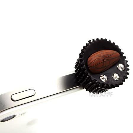 日本進口DECOPPIN甜品系列【布朗尼蛋糕】iphone音源孔防塵塞