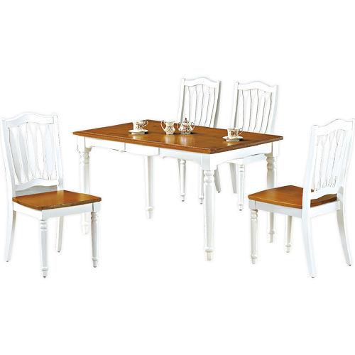 顛覆設計 鄉村風格全實木餐桌椅(雙色可選)