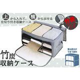 日熱賣竹炭透明視窗床下三格衣物收納箱62L