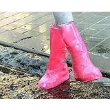 【PS Mall】鬆緊帶雨鞋款 可重覆用長款防雨鞋套 長透明款非拉鍊_2雙 (J1172)
