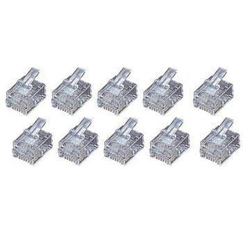 4蕊電話線插接頭(10入/2盒入)TEL-9