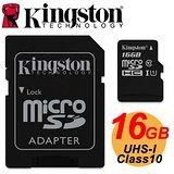Kingston金士頓 MicroSDHC 16GB UHS-I Class10 高速記憶卡-加送吊繩