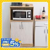 【好生活】雙門廚房收納櫃 (兩色可選)