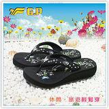 【G.P】新潮夢幻美鞋~立體雕花設計時尚超美拖鞋G6263W-10(黑色)共二色