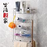 生活采家衛浴不鏽鋼掛放二用便利收納棚#27003