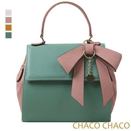 現貨【CHACO韓國】韓製Ribbon bag撞色蝴蝶結吊飾包 NO.2982薄荷色