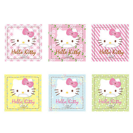 【Hello Kitty】3T隨你貼神奇無痕掛勾(方型)6入組