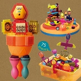 【美國B.Toys感統玩具】布萊斯特鬃毛積木
