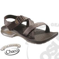 【美國 Chaco】男款 冒險旅遊織帶運動涼鞋-標準款/線條棕 CH-VBM01H261