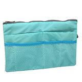【iSFun】筆電可放*大型舖棉包中袋/藍