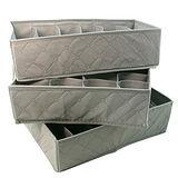 【iSFun】竹炭纖維*內衣收納盒3件組