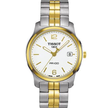 TISSOT PR100 經典復刻石英腕錶(T0494102201700)-半金/40mm
