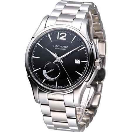 HAMILTON Jazzmaster 動力儲存 時尚腕錶(H32699131)黑面鋼