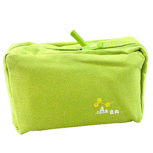 ~iSFun~淺綠色調~多層布面收納包